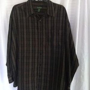 David Taylor Long Sleeve Striped Button Shirt